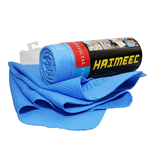 HAIMEEC Chamois Cloth, Cleaning Towels Car Drying Towel Synthetic Drying Chamois Super Absorption Cloth Drying Towels for Cars car Cleaning 1 Pack Blue(17 x 13 inch)