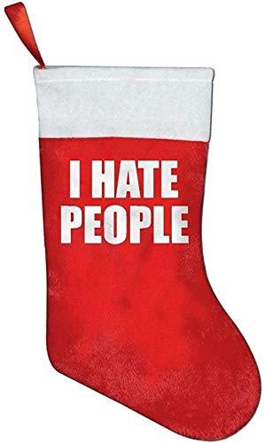 I Hate People 1 Christmas Stockings Christmas Forks Knives Dinner Flatware Decoration Holders