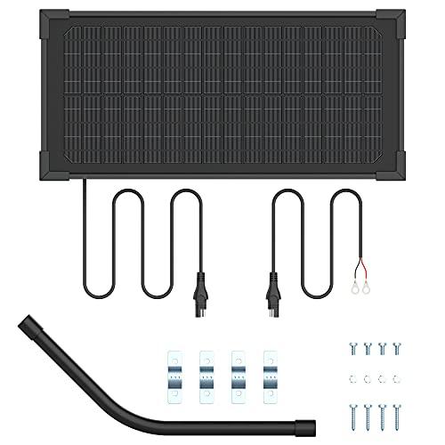 10 W 12 V panel solar cargador cargador de batería mantenedor kit monocristalino con panel solar de 12 V para sistemas automáticos de apertura de puerta solar y monitor