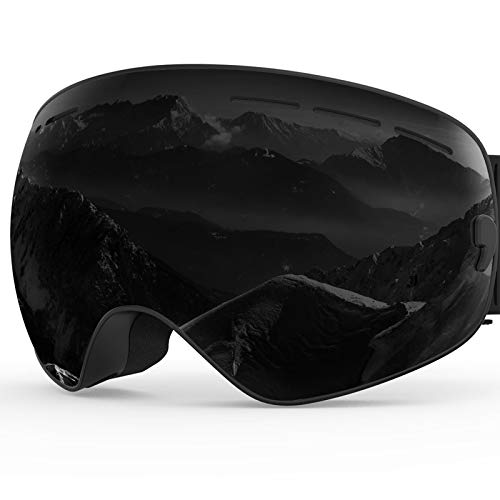 ZIONOR X Ski Snowboard Snow Goggles OTG Design for Men & Women with Spherical Detachable Lens UV Protection Anti-Fog