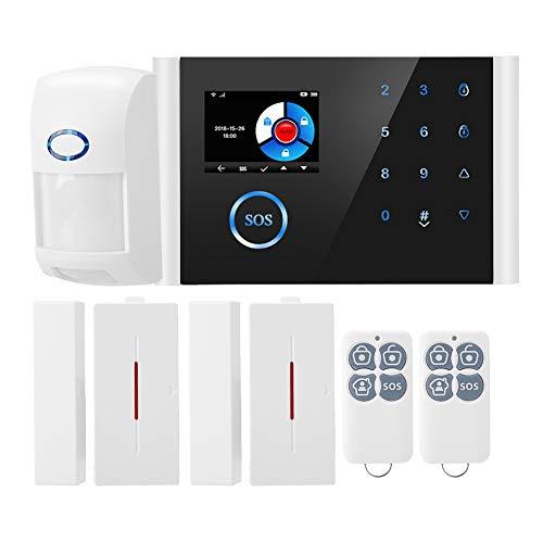 Caméra IP sans fil HD de sécurité du système d'alarme antivol WiFi + GSM + GPRS pour la maison/le bureau, supporte 9 langues, alarme APP réseau à distance wifi