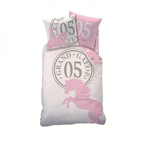 GRAND GALOP -Parure de Lit - Housse de couette - 140 x 200 cm - Five pink