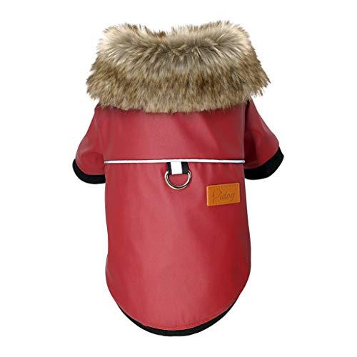 AMURAO wasserdichte Haustier Jacke Mops Kleidung Winter Baumwolle Mantel Kleidung für kleine mittlere Hunde Yorkshire