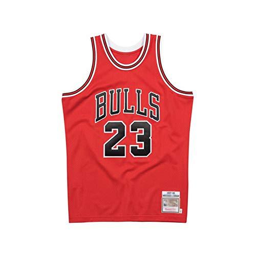 Jordan 23# Basketball-Trikot, Sport-Shirts, für Herren, Damen und Jugendliche, atmungsaktiv, schnell trocknender Stoff, bequem, rot (S-XXL), 123, rot, X-Large