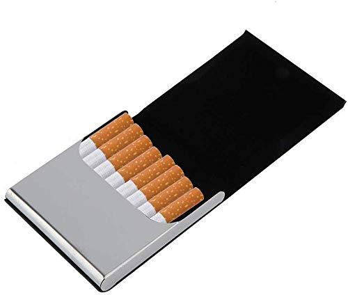 Funda Cuero Cigarrillos PU Cuero Metal Sostenga 10
