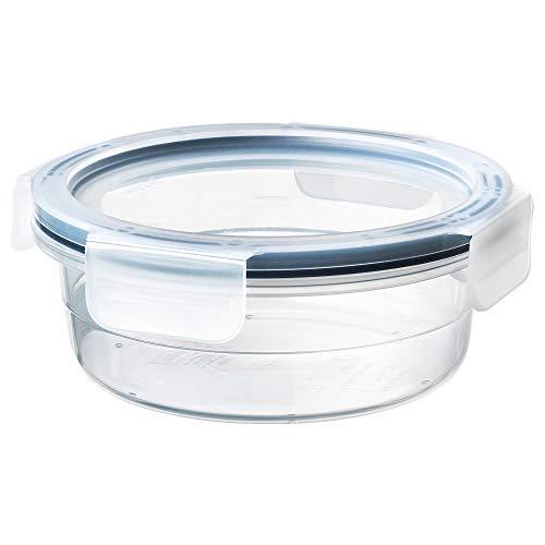 IKEA 392.691.01 Frischhaltedose mit Deckel, rund, Glas
