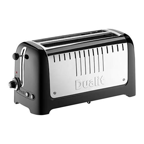 Dualit 46065 Long Lite Toaster, 2000 W, Schwarz, Edelstahl