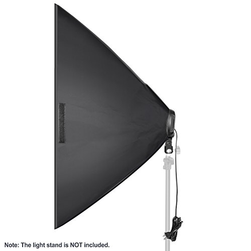 Neewer Photo Studio Photography 19.7 x 25.6 inches Light Soft Box Reflector with 4 Socket Light Bulb Adapter and External White Diffuser Cover for Video Studio Shooting (US Plug, Bulb Not Included)
