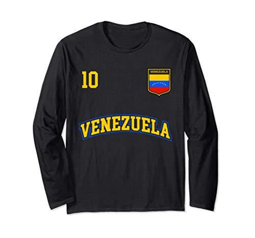 Squadra Calcio Venezuela Numero 10 Bandiera Venezuelano Maglia a Manica