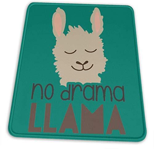 Muismat om te spelen No Drama Lama rechthoekige muismat voor ondersteuning van bekabelde geschenken of Bluetooth-muis