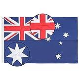 Lixure Australien Flagge/Fahne Premium Qualität für Windige Tage 90x150cm Nationalflagge-Durable 210D Nylon Draußen/Drinnen Dekoration Flagge MEHRWEG