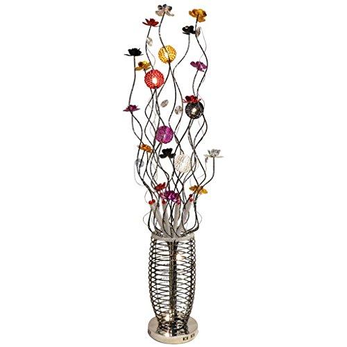 TangMengYun Moderne LED Stehlampe, Aluminium Blume Standard Lampe für Esszimmer Wohnzimmer Schlafzimmer Nachttischlampe, Pastorale Farbe Stehleuchte (22 * 150 CM)