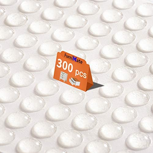 Clear Cabinet Door Drawer Bumpers Pads 300PCS 10mm Small Rubber Bumper Pads Sound Dampening product image