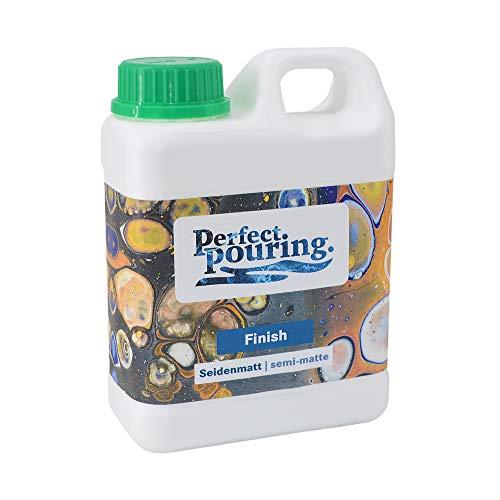 Perfect. pouring. Finish 1 Liter | Klarlack Seidenmatt | Versiegelung für Acrylfarbe