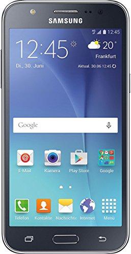 Samsung Galaxy J5 Smartphone (5 Zoll (12,7 cm) Touch-Display, 8 GB Speicher, Android 5.1) schwarz (Generalüberholt)