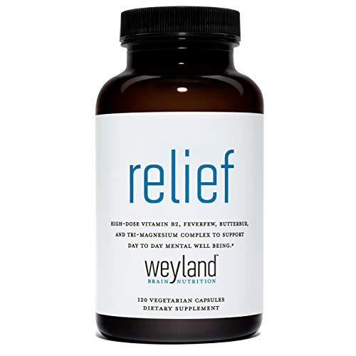 Weyland Brain Nutrition: Relief (120 Count), 120 Vegetarian Capsules, Support for Migraines and Mental Well Being