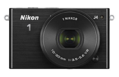 Nikon 1 J4 Systemkamera (18 Megapixel, 7,5 cm (3 Zoll) LCD-Display, Full HD Videofunktion) Kit inkl. 10-30mm PD-Zoom Objektiv schwarz