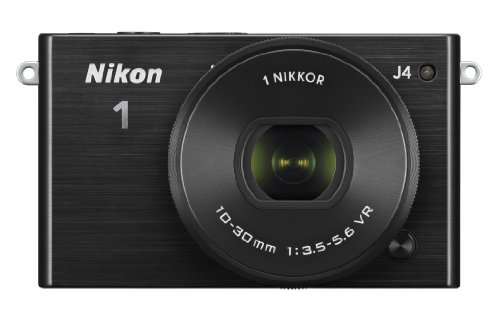 Nikon 1 J4 Systemkamera (18 Megapixel, 7,5 cm (3 Zoll) LCD-Display, Full HD Videofunktion) Kit inkl. 10-30mm PD-Zoom Objektiv schwarz