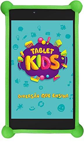 Tablet Dl Kids C10 - Tela 7' Quad Core 8gb/1gb Wifi - Android - Branco com capa de silicone Bumper.