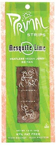 Primal Strips - Meatless Vegan Jerky Seitan Mesquite Lime Flavor - 1 oz. (Pack of 3)