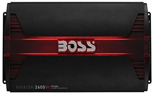 BOSS Audio Systems PF2600 Phantom 2600 Watt, 4 Channel, 2 4 Ohm Stable Class AB, Full Range, Bridgeable, Mosfet Car Amplifier with Remote Subwoofer Control