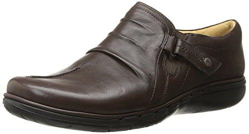Clarks Women's Un Casey Flat, Dark Brown Leather, 8.5 M US