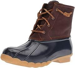 Sperry Women's Saltwater Boots, Tan/Navy, 10