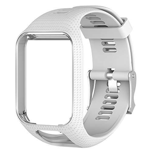 Pulseira de Silicone branca Para Relógio TomTom Runner 2/3 / Spark/Adventure