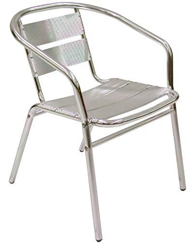 Ordine min. 4 pz Poltrona sedia in alluminio per esterno da bar stabilimento pub