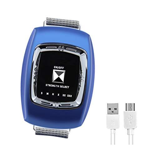 GJXJY Anti ronquidos Pulsera USB, 2021 Dejar para Roncar Dispositivos Antirronquidos con Biosensor Reloj Antirronquidos con 3 Modos y 6 Engranaje Ajustable para Mujeres Y HombresBlue