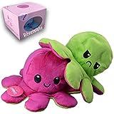 Kprice Pulpo Reversible Pulpito Peluche, Pulpitis Octopus Juguetes de Doble Cara, muñecas de Animales Blandos, numeradas para niños y Adultos, entregados Caja Original Limitada
