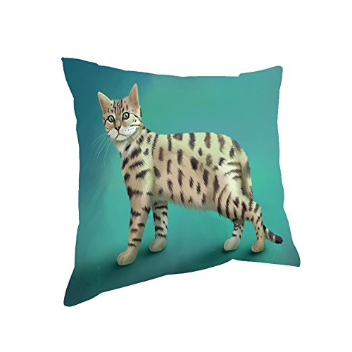 Doggie of the Day Bengal Cat Throw Pillow (26x26)