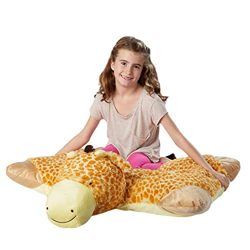 "Pillow Pets Jumboz, Giraffe, 30"" Jumbo Folding Plush Pillow"