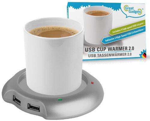 Splash Brands GreatGadgets 3022 USB Tassenwärmer mit 4fach Hub