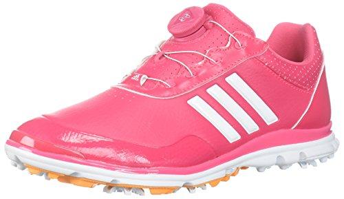 adidas Women's Adistar Lite BOA Golf Shoe, Real Pink/White/Real Gold, 11 M US
