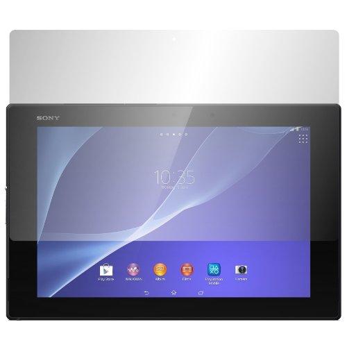 Slabo 2 x Bildschirmschutzfolie kompatibel mit Sony Xperia Tablet Z2 Bildschirmschutz Schutzfolie Folie Crystal Clear unsichtbar Made IN Germany