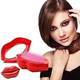 Brosse À cheveux TT Peigne Pour Hommes Femmes Étudiant Brosse À Cheveux En forme de lèvres Peignes Cheveux Cheveux Lisse Soins du cuir chevelu red