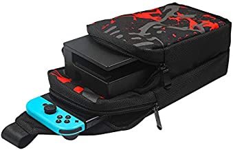 TwiHill Bolsa de armazenamento crossbody bolsa de ombro para Nintendo Switch / Nintendo Switch Lite, bolsa de viagem portá...