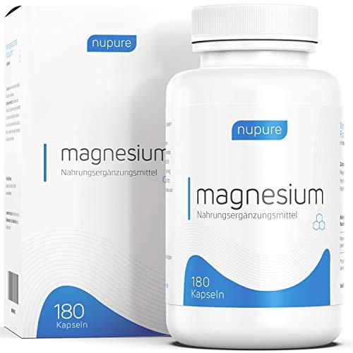 nupure Magnesio (180 Cápsulas) Con Citrato De Magnesio Y Óxido De Magnesio