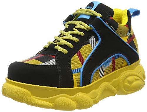 Buffalo Damen Corin Sneaker, Gelb (Glencheck Yellow 001), 39 EU