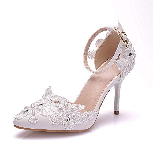 AORISSE Zapatos De Novia para Mujer, Zapatos De Boda De Diamantes De...