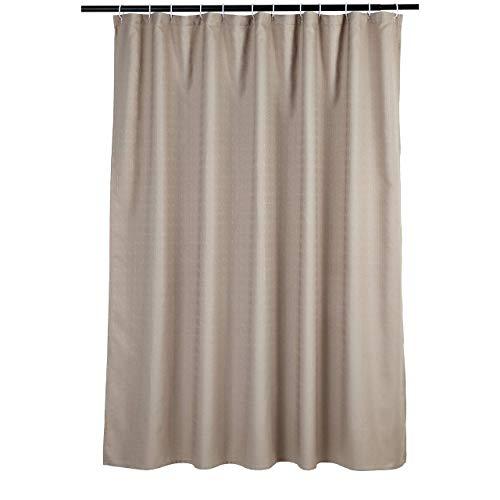 Amazon Basics Linen Style Bathroom Shower Curtain - Taupe,...