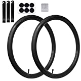 Calvana (2 Pack) 20'' x 1.75/2.125 Replacement Inner Tubes with Tire Leveler and Round Patches for Youth Bike with 20 Inch Tires. Made of Heavy Duty, Thick Butyl Rubber.