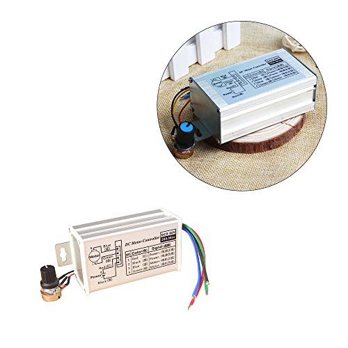 Wixine 1Pcs 12V 24V Max 20A PWM DC Motor Stepless Variable Speed Control Controller Switch