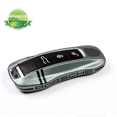 GuoYq Porsche Schlüssel Gehäuse Fernbedienung,Autoschlüsselschale Tasten Smart Key Autoschlüssel Compatible Porsche 911 Und 718 Cayenne Panamera Macan Cayman Boxster Green