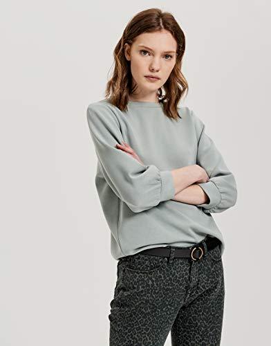 Opus Damen Gilka Sweatshirt, Ice Green, 40