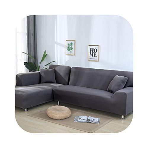 Sofabezug, elastisch, einfarbig, Sofaüberwurf, dehnbar, Farbe 18-2 Seater und 4 Seater