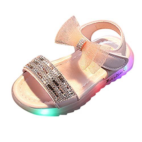 YWLINK Zapatos De Playa Con Luz LED De Malla Para El Comercio Exterior Para NiñOs, Zapatos De Playa,Zapatos Ligeros Antideslizante, Andalias Antideslizantes De Suela Blanda Para NiñOs PequeñOs