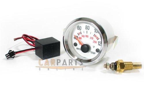 Carparts-Online 11359 Wassertemperatur Anzeige Zusatz Instrument 52mm Plasma blau