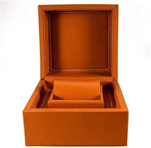 Caja de reloj de madera con 6 ranuras para gafas de sol y relojes, caja de almacenamiento con cerradura con tapa de cristal, colección organizadora de relojes negra (tamaño: 33 x 20 x 8 cm)
